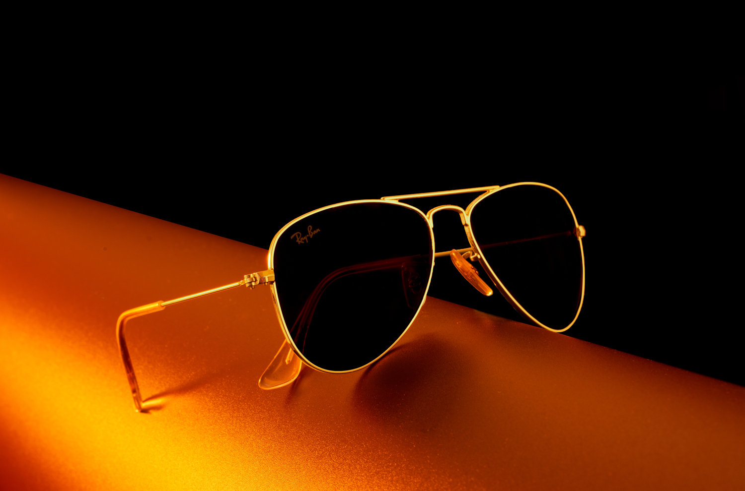 Ray-Ban zonnebril close-up